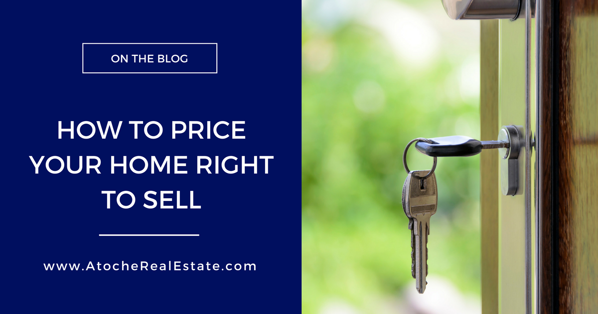 How to Price Your Home Right To Sell