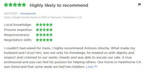 5 Star Zillow Agent Antonio Atoche